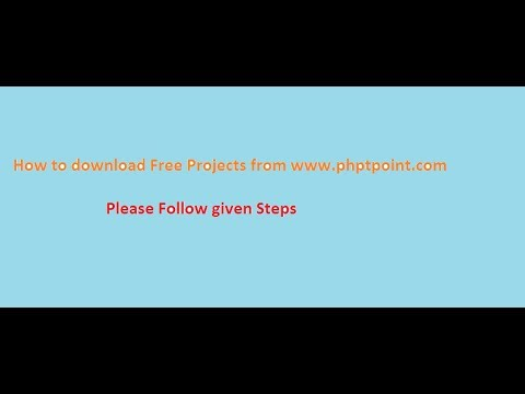 Free Projects Downloading Steps