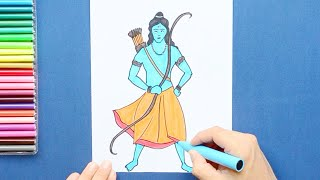 How to draw and color Lord Ram