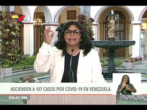 Reporte CoronaVirus Venezuela, 26/03/2020: Primer fallecido en el país, informa Delcy Rodríguez