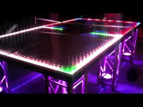 ping pong lighting. lightup ping pong table wwwinteractivepartycom lighting a
