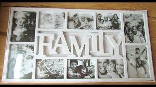 Рамка для фотоколлажей на 10 фотографий Family (Видео обзор) podarki-odessa.com