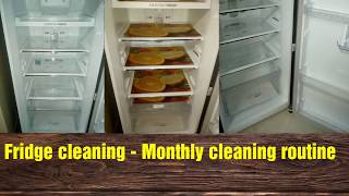 Fridge cleaning video tamil| Monthly fridge cleaning routine