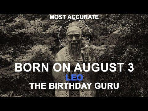 Born on August 3 | Birthday | #aboutyourbirthday | Sample