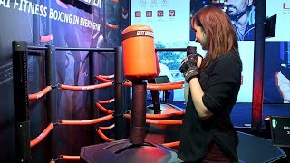 Spar with SkyTechSport's BotBoxer smart boxing trainer