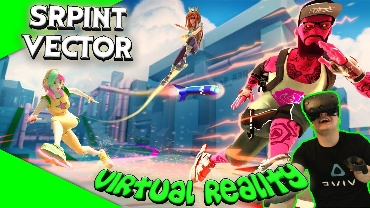 Sprint Vector - Extreme Sport in VR [Let's Play][Gameplay][German][HTC  Vive][Virtual Reality]