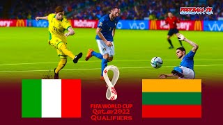 Italy vs Lithuania FIFA World Cup 2022 Qualifiers Match eFootball PES 2021