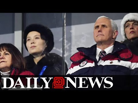 Mike Pence seated near Kim Jong Un's sister during Olympic ceremony