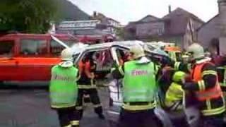 Exercice désincarceration pompiers Saint-Imier 24.05.08
