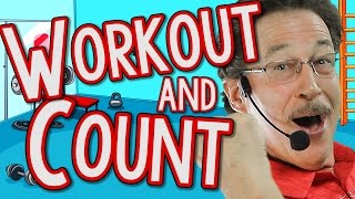 Workout & Count | Skip Count by 2's, 5's and 10's | Count Backwards | Jack Hartmann
