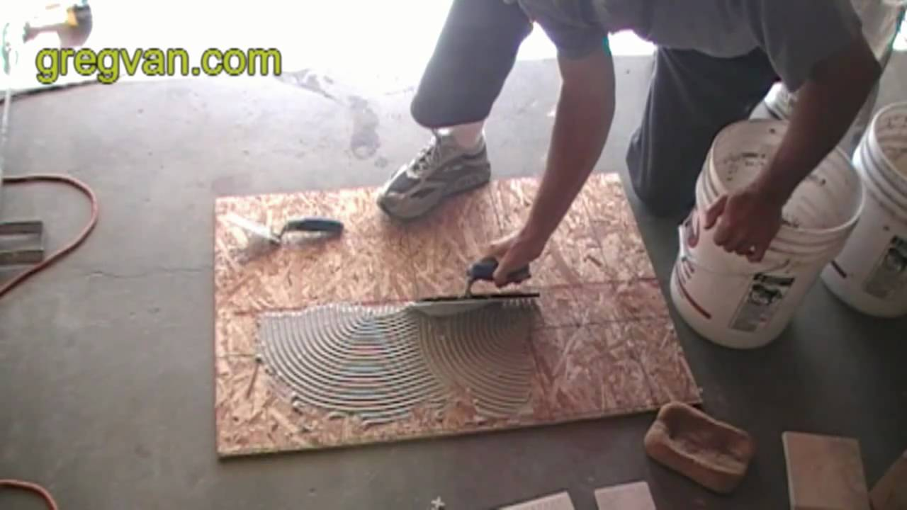 Learn How To Apply Ceramic Tile Adhesive Youtube