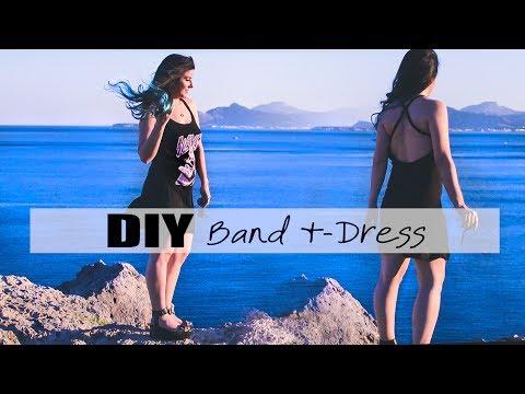 DIY Summer Metal Tee Dress collab w/ I WEAR A BOW - Transform t-shirt to dress | Mika chan Sailor