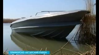 видео: Лодку браконьеров в Азовском море преследовали больше двух часов