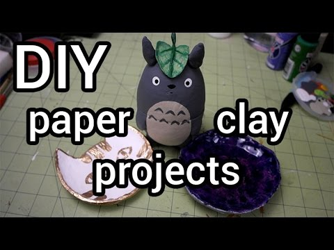 Paper clay projects diy youtube for Paper clay projects