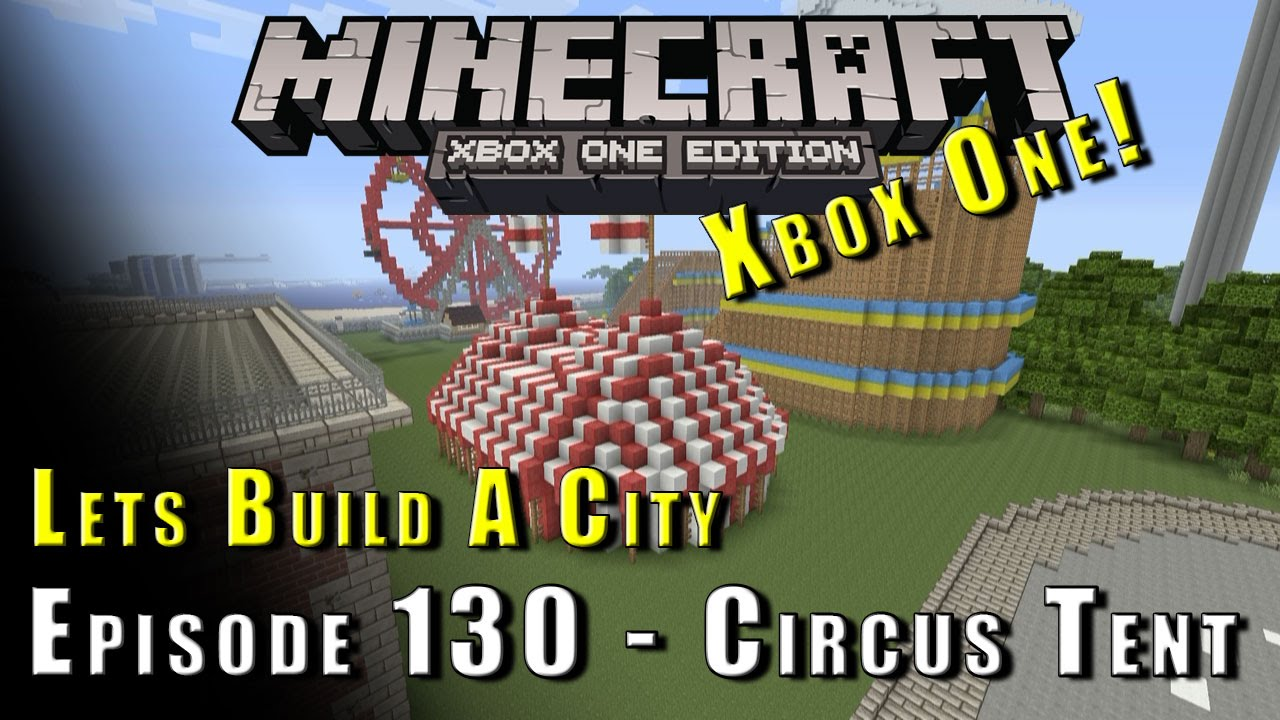 how to make a circus tent in minecraft