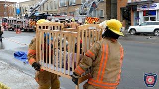 Hochelaga | Incendie de deuxième alarme rapidement maîtrisé par les pompiers de Montréal