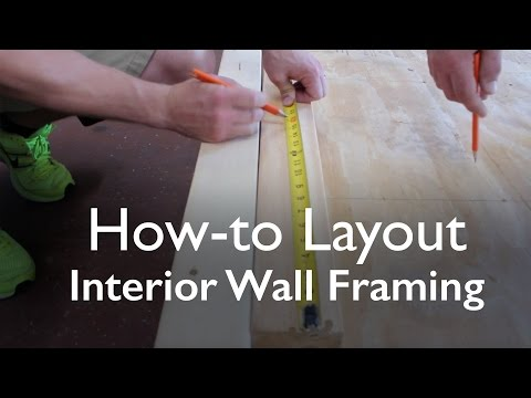 "How To Layout Interior Wall Framing - 16"" On Center"
