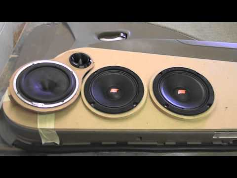 Custom Car Audio Door Panel Build Part 1 (Hertz SPL Show)