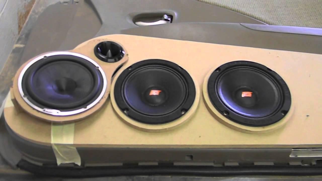 Custom Car Audio Door Panel Build Part 1 (Hertz SPL Show) - YouTube