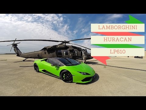 LAMBORGHINI HURACAN + 18 MILLION DOLLAR MILITARY HELICOPTER