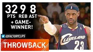 Throwback: LeBron James EPIC Highlights vs Warriors (2009.01.23) - 32 Pts, GAME-WINNER!