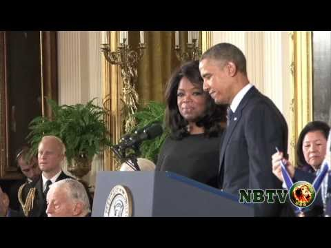 President Obama presents Rev. Dr. CT Vivian and Oprah Winfrey with Medal of Freedom Award on NBTV