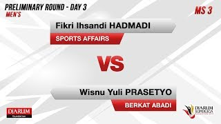 PRELIMINARY ROUNDS | MS3 | FIKRI (SPORTS AFFAIRS) VS WISNU (BERKAT ABADI)