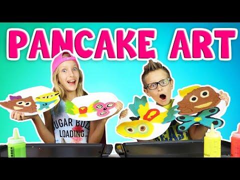 PANCAKE ART CHALLENGE!!!!! DRAWING LOGAN PAUL'S MAVERICK LOGO!