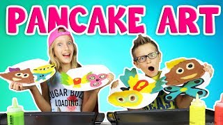 PANCAKE ART CHALLENGE!!!!! DRAWING LOGAN PAUL
