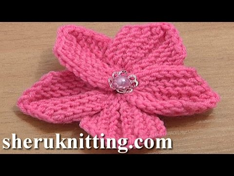 Beautiful Five Petal Flower to Knit Tutorial 10 Knitting Flowers