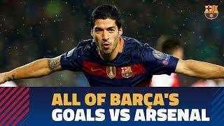 Every single Barça goal against Arsenal