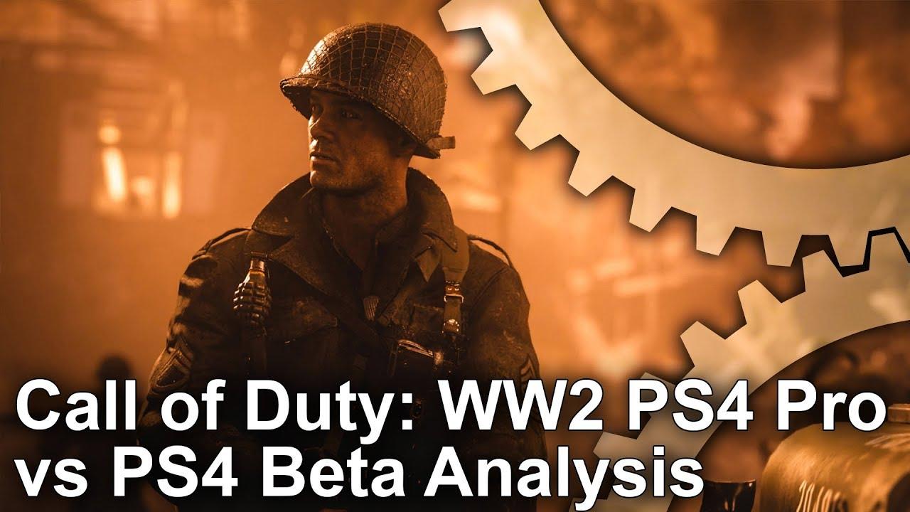 4k call of duty ww2 beta ps4 pro vs ps4 analysis youtube - Is cod ww2 4k ...