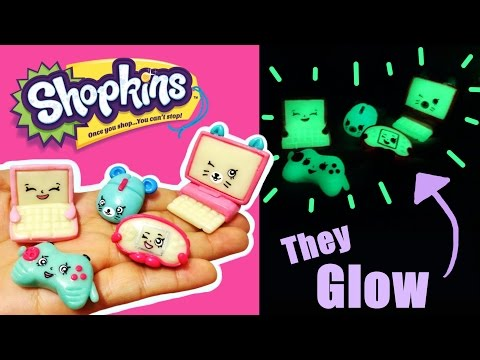 DIY GLOW IN THE DARK SHOPKINS! Season 5 Custom Shopkins Polymer Clay Tutorial