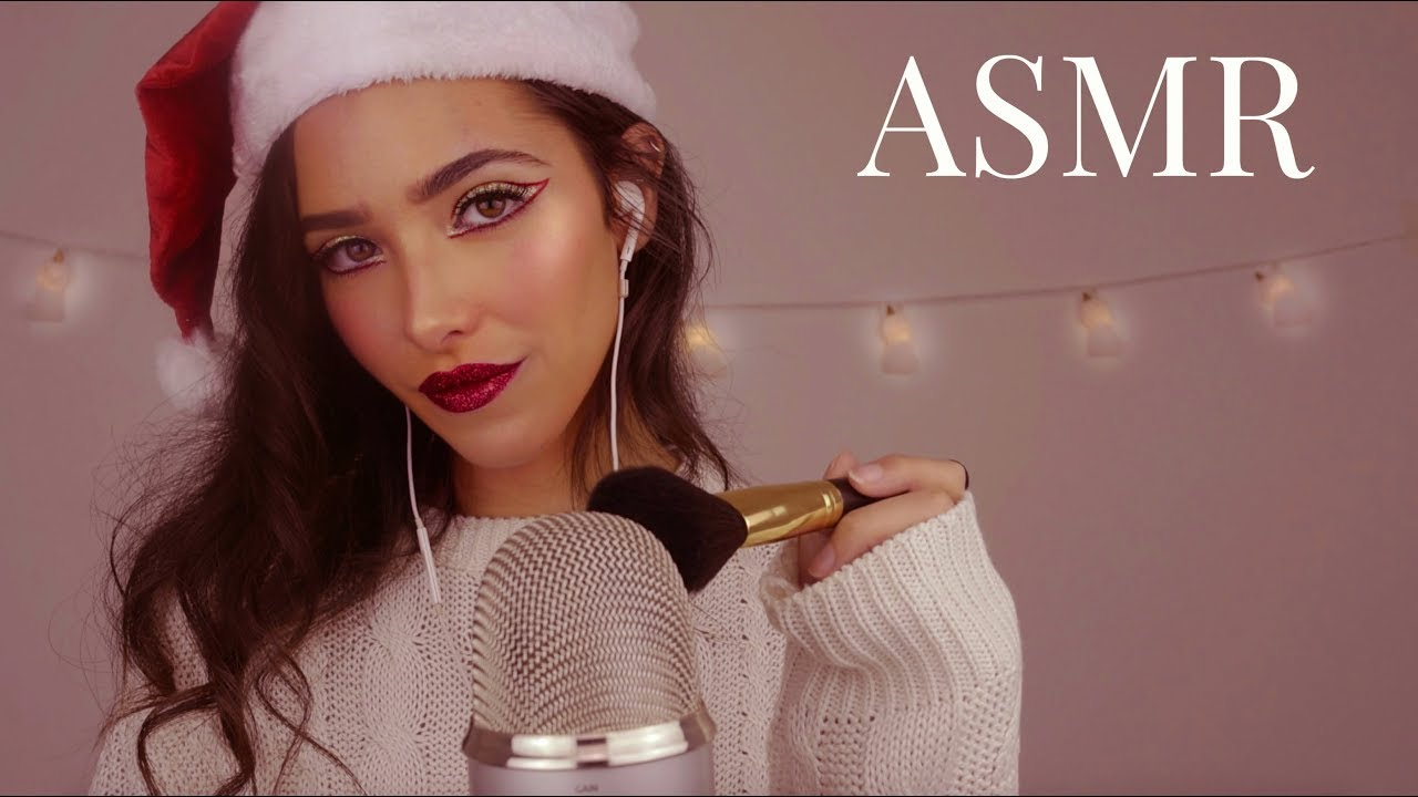 ASMR Let Me Make You Sleepy 2: Mic Brushing & Soft Singing (Christmas Edition)