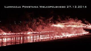 Iluminacja Powstania Wielkopolskiego 27.12.2014 - Kibole Lecha Poznań