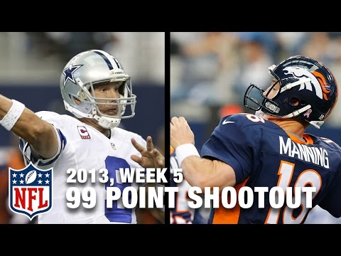 Tony Romo & Peyton Manning Put up 99 Points in 2013 | NFL Classic Shootout