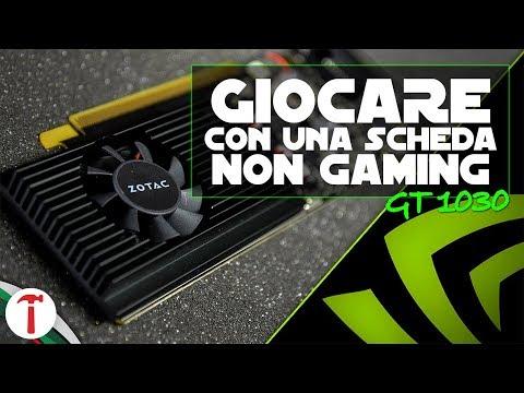 Giocare con una scheda video NON da gaming | Nvidia GT 1030