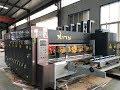 Economic speed 4 colors slotting die cutting carton box making machine working in Egypt