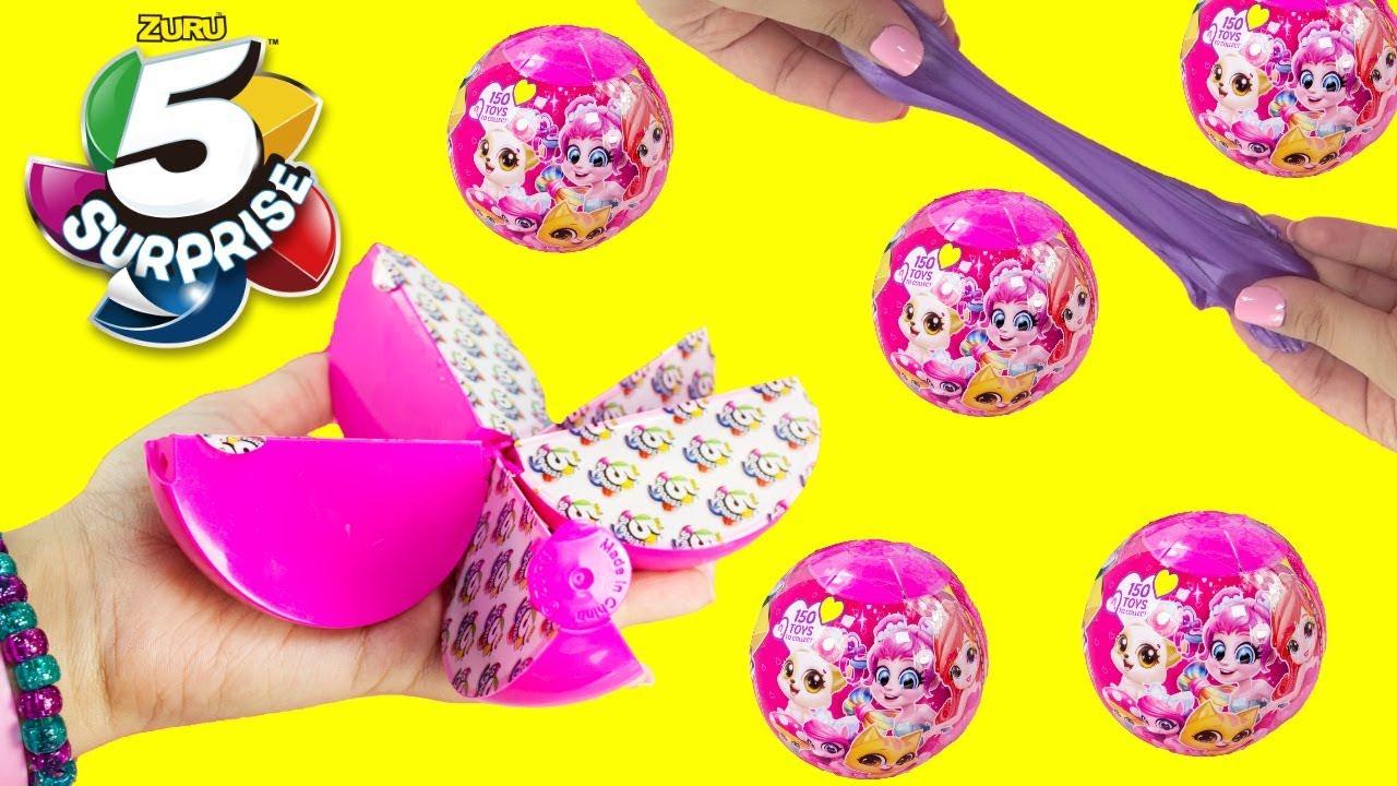 zuru 5 surprise ball unboxing 5 surprises toys blind bag