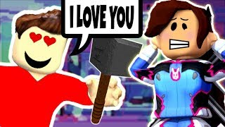 THE BEAST HAS A CRUSH ON ME?! (FLEE THE FACILITY ROBLOX)