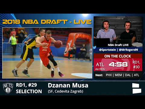 Brooklyn Nets Select Dzanan Musa With Pick #29 In 1st Round Of 2018 NBA Draft