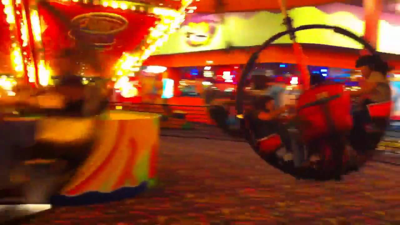 Family on twister at John's Incredible Pizza Co - YouTube
