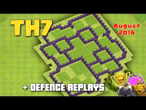 Clash Of Clans - Town Hall 7 (TH7) Hybrid/Farming Base 'August 2016' + Defence Replays Proof