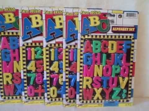 Lot Of 5 Number & Alphabet sets 3 Number and 2 Alphabet NEW Stocking Stuffer
