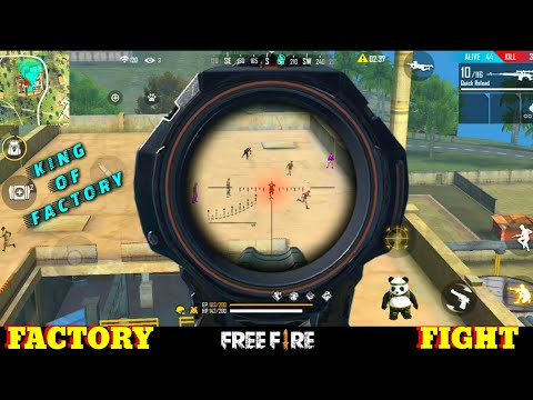BEWARE OF MY SCOPE IN FACTORY - TOP - FF FIST FIGHT ON FACTORY - GARENA FREE FIRE - ROOF PRO PLAYER