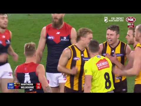 Hawthorn vs Melbourne Semi final 2018 All the goals, behinds & highlights 1stHALF
