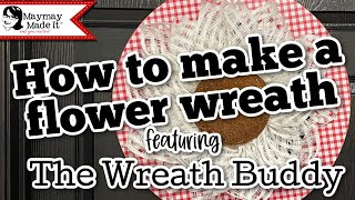 How to make a fl๐wer wreath featuring The Wreath Buddy