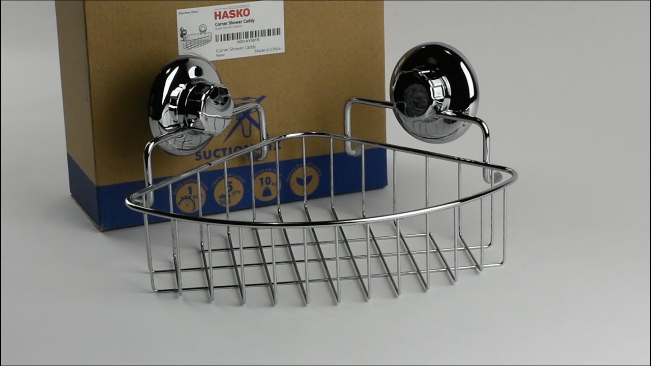 Charmant HASKO Corner Shower Caddy With Suction Cup Review
