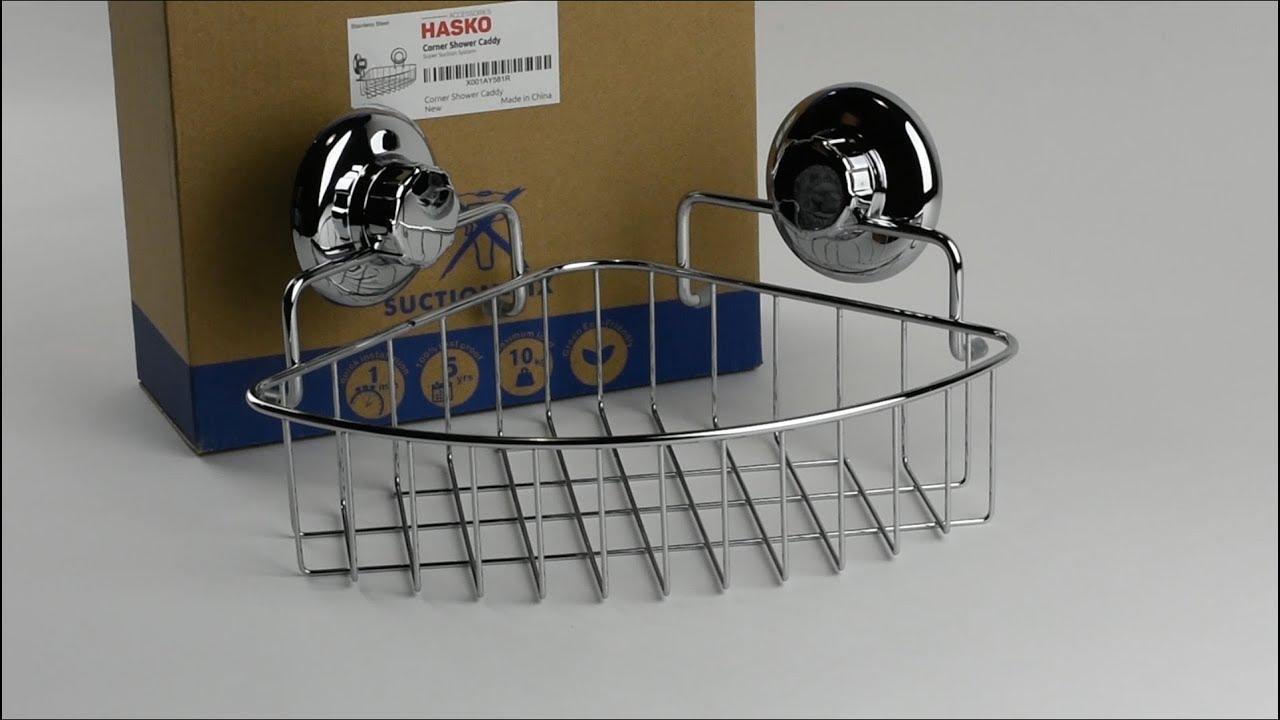 Hasko Corner Shower Caddy With Suction