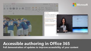 Accessible authoring tips and updates in Office 365 thumbnail