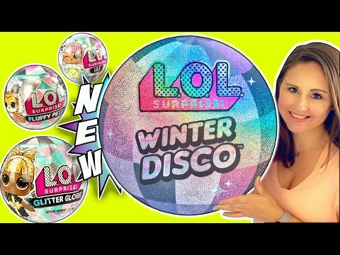 LOL Surprise Winter Disco! NEW Glitter Globe LOL Dolls, LOL Fluffy Pets + LOL Lils! - LOL Doll Video